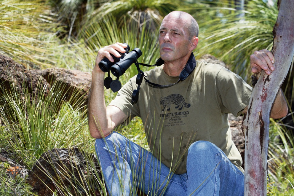 Mike Griffiths on the lookout for big cats in the Perth Hills. Picture: Bruce Hunt www.communitypix.com.au   d478697