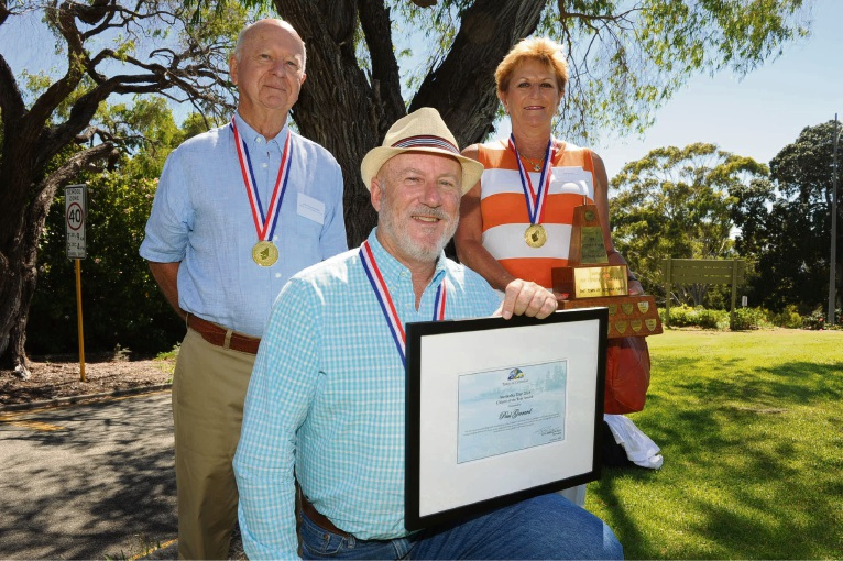 Citizens of the Year (l-r) comprised peppermint Grove's John Cunningham, Paul Gerrard from Cottesloe and Mosman Park Gill Vivian. Photo: Jon Bassett