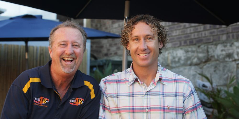 Rod Willet, left, and Matt Priddis.  Picture: Bruce Hunt d478684