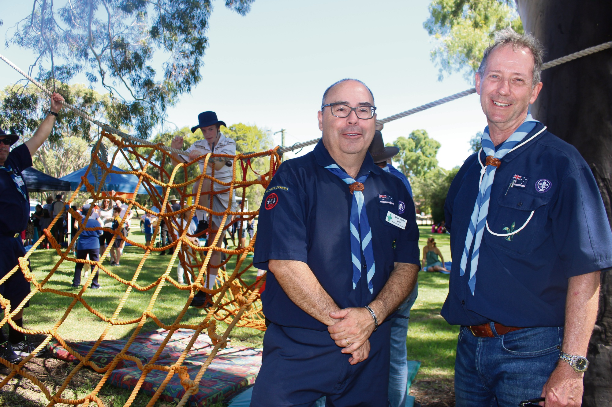Simon Griffiths and Stephen Schibler (Bullcreek Leeming Scouts Group)