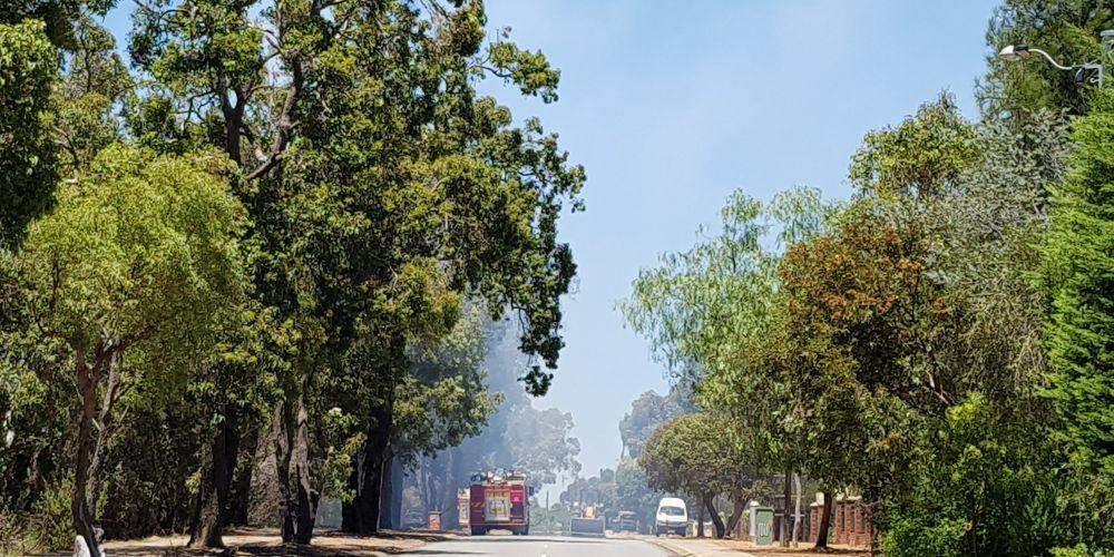 The fire near Railway Road in Kalamunda. Picture: David Baylis.