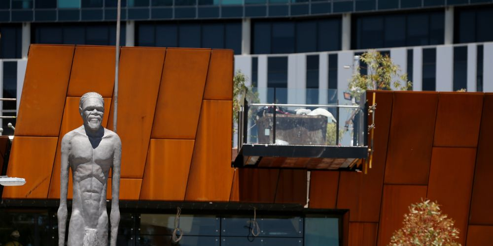 Yagan's statue in Yagan Square. Photo: Andrew Ritchie