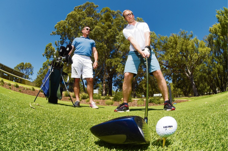 Dave Crispin and Jacob Hammer are organising a golf day where men are encouraged to speak about their mental health challenges.