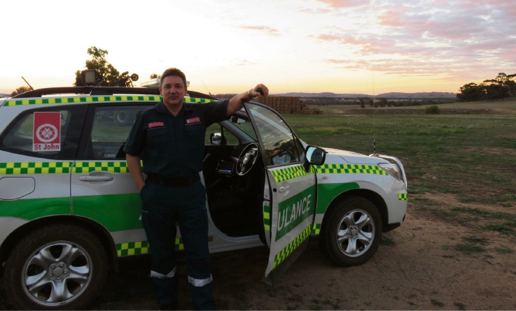 St John Ambulance community paramedic Andrew Richardson who has been recognised with an Ambulance Service Medal.