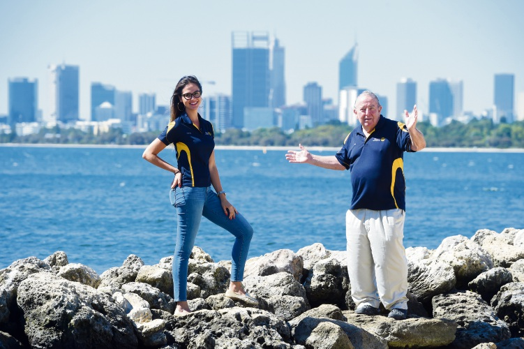 Applecross Rotary Club's Gabriela Pasqualon and Ian Fairnie. The Rotary Club is driving a Shark Tank-style initiative looking to support projects that will benefit local and international communities.