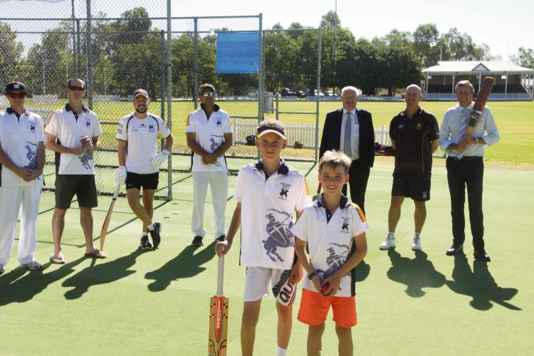 Cricketers at White Knights Cricket Club are looking forward to using the new equipment.