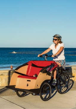 Alanagh Tolley Godderidge (Sorrento) is offering free trishaw rides to elderly and less able people along the coast from Mullaloo to Trigg.