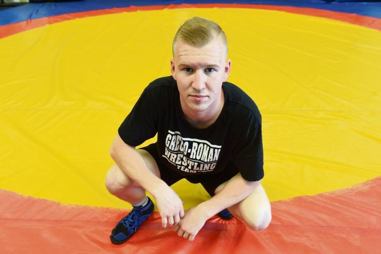 Wrestler Taaniel Piiskoppel. Picture: Jon Hewson d478841