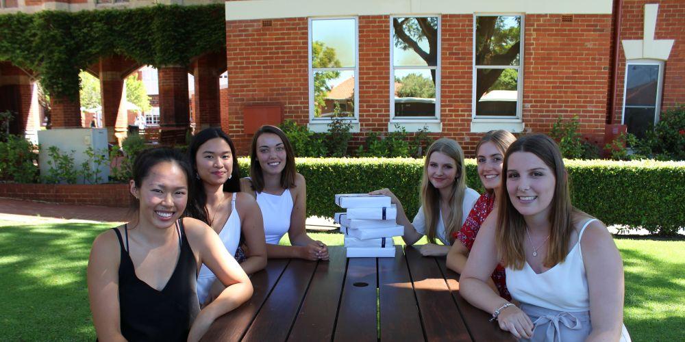 Perth College high achievers Clarissa Luk, Gianina Lo, Zoe Webber, Kiera Ellis, Riley Abbott and Sinead Thompson.