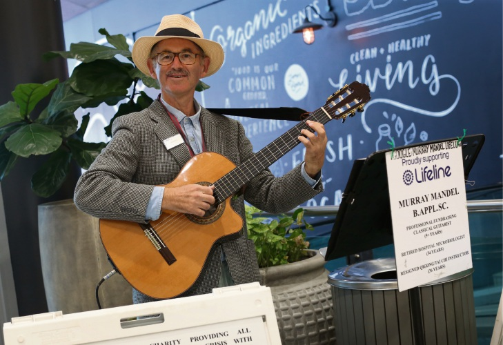Deaf Musician Murray Mandel travelling Australia performing and raising money for Lifeline. Photo: Matt Jelonek