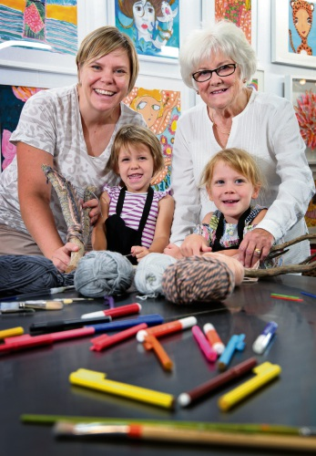 Kalamunda: seniors passing on arts and crafts knowledge to younger generations