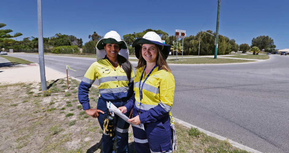 Lizele Moniz (project manager) and Chantelle Blight (community engagement advisor). Picture: Martin Kennealey d478868