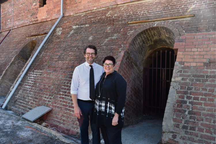 Bayswater Mayor Dan Bull and Maylands MLA Lisa Baker.