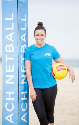 Beach Netball ambassador Kelsey Browne. Picture: Supplied