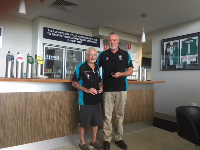 John Polmear and Ray Hill were awarded life membership to the Peel Thunder Past Players and Officials Association.