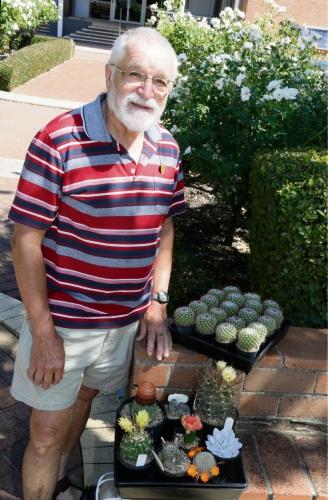 WA Cactus and Succulent Society President Bob Hunter. Photo: Bronwyn Donovan