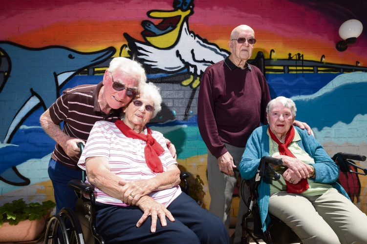 Bill and Fay Adair and Les and Betty Williams. Picture: Jon Hewson www.communitypix.com.au d478916