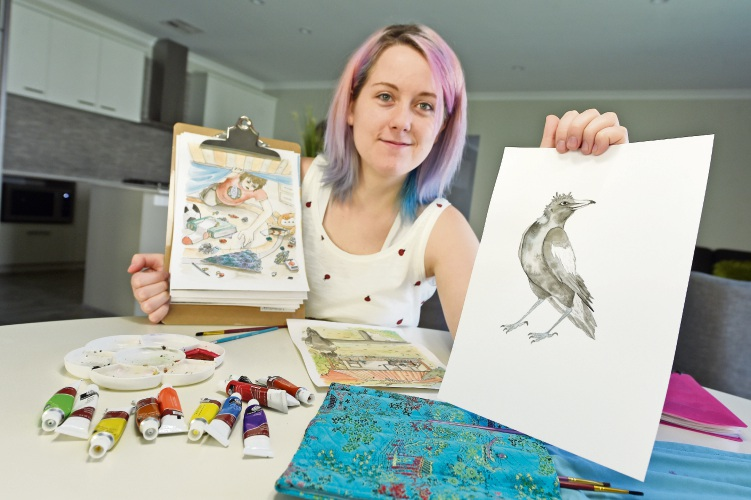 Baldivis artist Tash MacFairlane kicks goal with first novel illustration