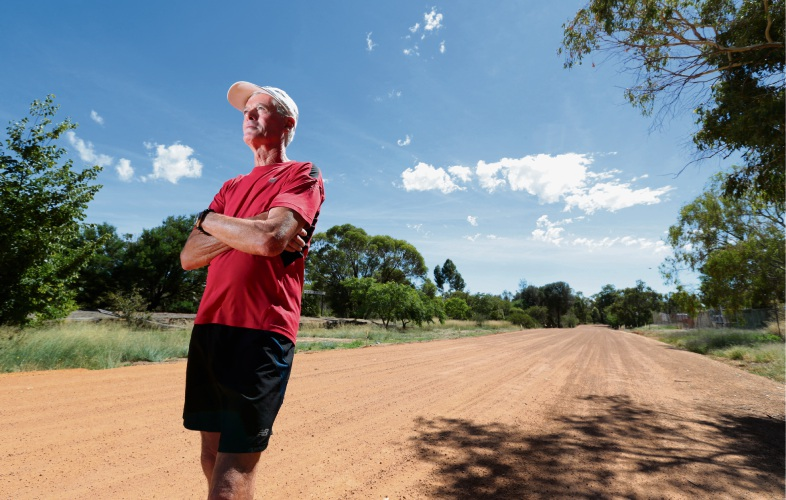 Athlete Colin Hassell of Bakers Hill, in training for the London 42km Marathon on April 22. Picture: David Baylis