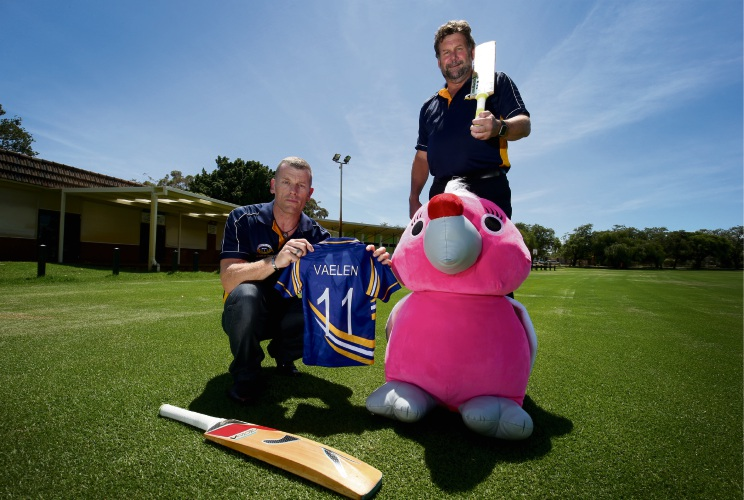 Bentley Cricket Club's Glen Hewitt and Steve Shearing. Picture: Matt Jelonek www.communitypix.com.au d479220