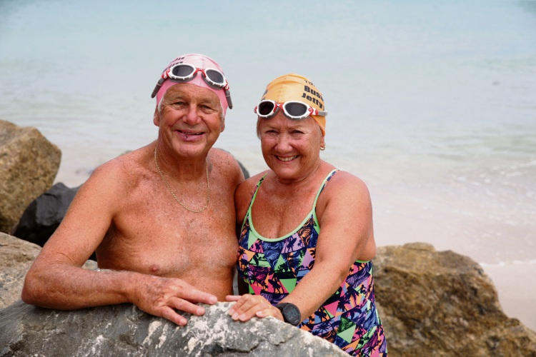 Greenwood couple Carrol and Max Wannell are taking part in their 20th Busselton Jetty Swim this weekend. Picture: Martin Kennealey d479042