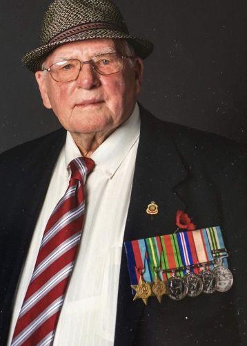 Woodvale WWII vet Walter Cross.