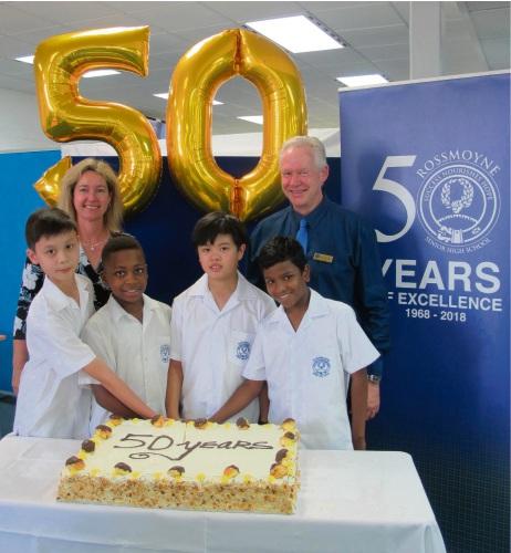 Rossmoyne SHS shares major milestone with teacher's own anniversary