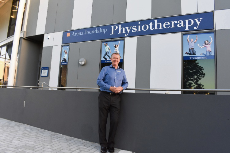 Principal physiotherapist and managing partner Gavin Kerruish at the new Arena Joondalup Physiotherapy facilities.