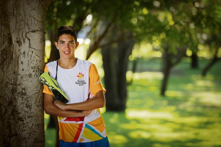 Jacob Hristianopoulos (14) is a rising athletics star and has been chosen to be part of the Queen's Baton Relay.