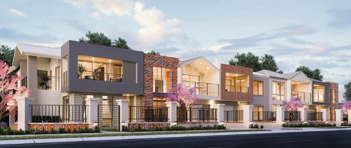 An artist's impression of homes on micro lots in an Ellenbrook development.