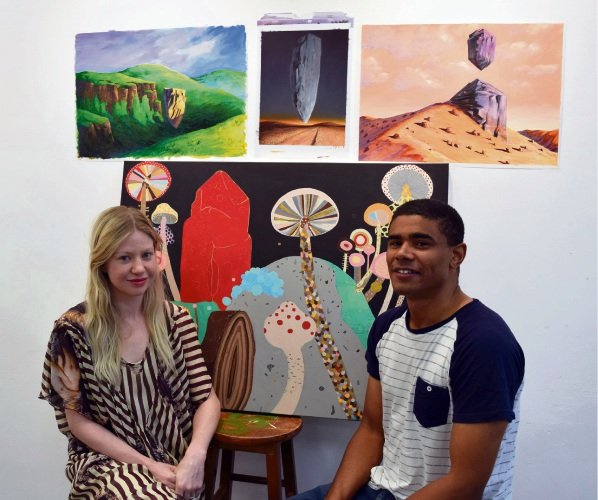 Midland Junction Art Centre artists in residency Louise and Dion Hamill.