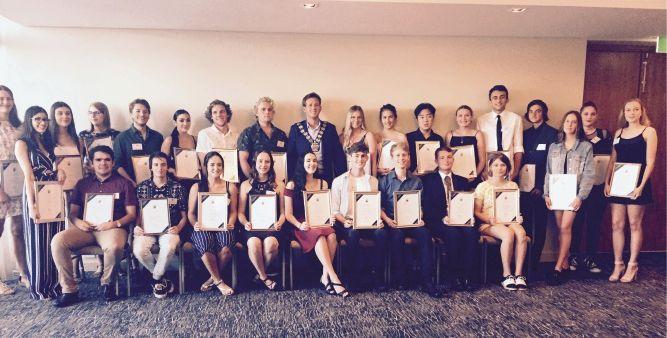 Award winning students at the civic reception.