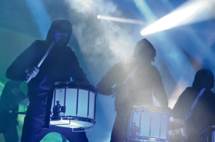 Odesza's drum line. Picture: Kathy Ociepa.