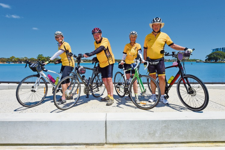 Jo Smith, Lionel and Joan Savill, and Colin Richardson. Picture: Jon Hewson www.communitypix.com.au d479258