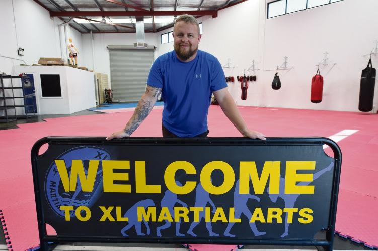 XL Martial Arts owner Eric Jensen. Picture: Jon Hewson www.communitypix.com.au d479245