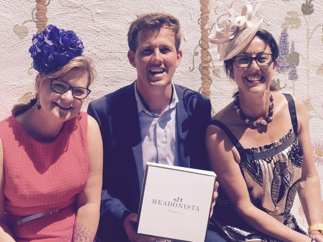 Business partners Victoria Gardiner (left) and Rosie Hegarty with Mandurah Mayor Rhys Williams.