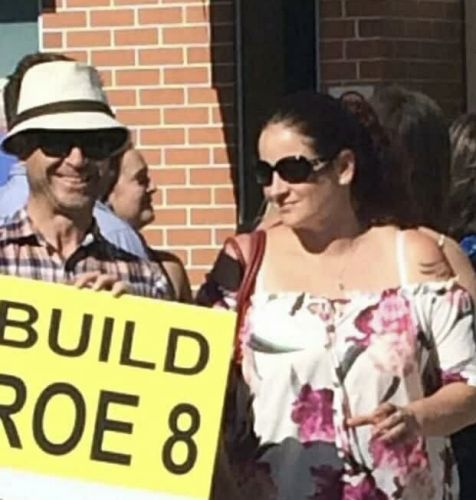 Cockburn councillor Chontelle Sands leaving the late Steve Portelli's funeral was ambushed upon by pro-Roe 8 campaigners.