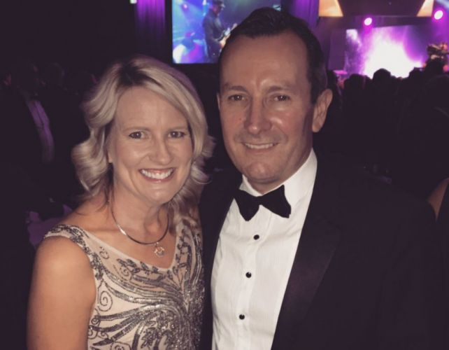 Sarah and Mark McGowan. Picture: Mark McGowan/Twitter