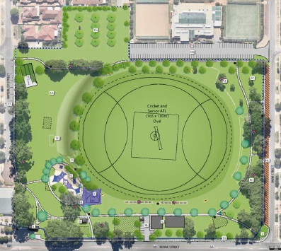 Stage 1 of proposed Robinson Reserve master plan.