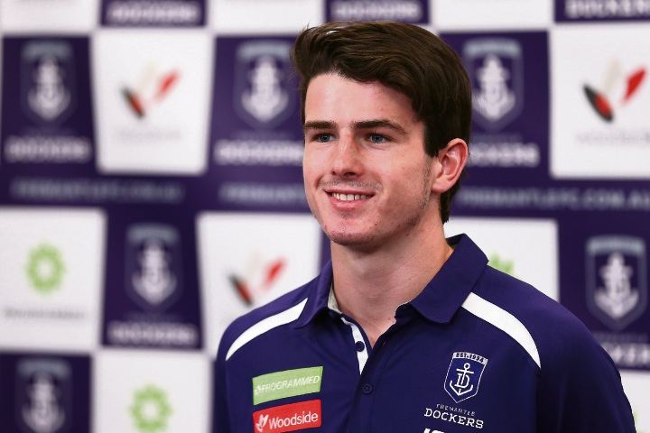 Fremantle draftee Andrew Brayshaw is in the squad of 20 heading to Adelaide to play in the AFLX competition on Thursday. Picture: Paul Kane/Stringer
