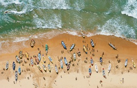 Surf Lifesaving Regatta, Manly in New South Wales by Richard Woldendorp.