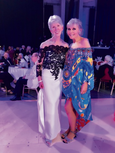 Champion Media Group's Betty Drummond, host of the Crystal Boot Awards, with Nedlands award winner Alison Johnstone.