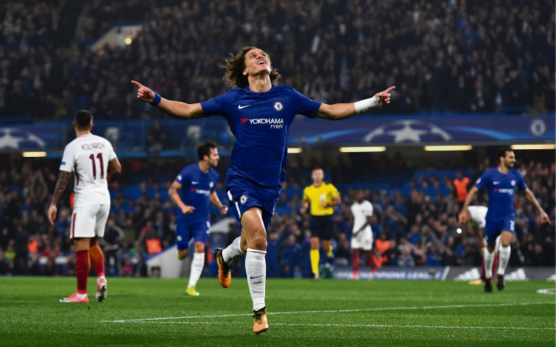 David Luiz of Chelsea celebrates scoring a goal. Picture: Dan Mullan/Getty Images