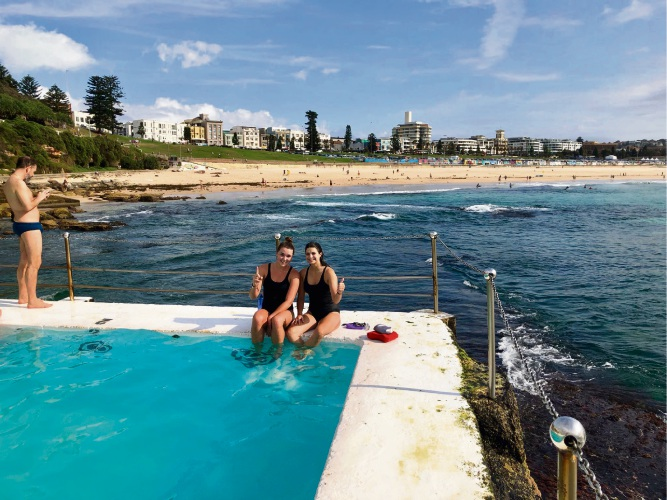 Penny Grant and Imogen Prevost will head over from Bondi to join the MND-eep Sea Swimmers in the Rottnest Channel Swim.