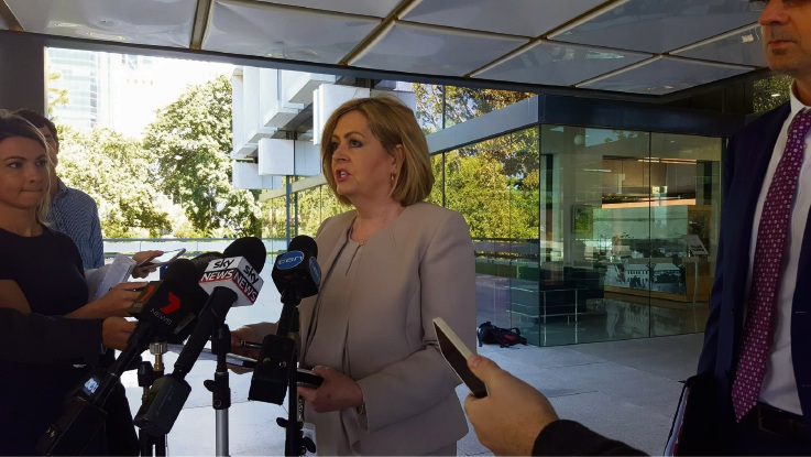 City of Perth Lord Mayor Lisa Scaffidi facing the media.