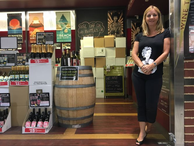 Marie Cloughley at WA Cleanskin Cellars in Subiaco.
