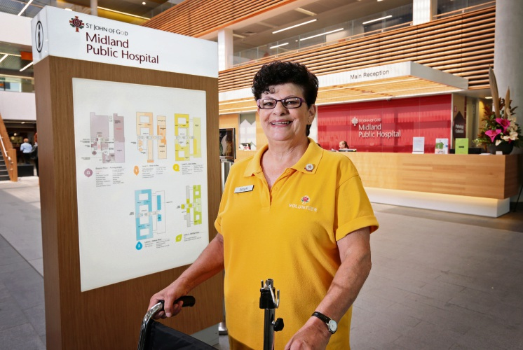 Steph Haskins of Beechboro is a volunteer at the St John of God Midland Public Hospital. Picture: David Baylis d479500
