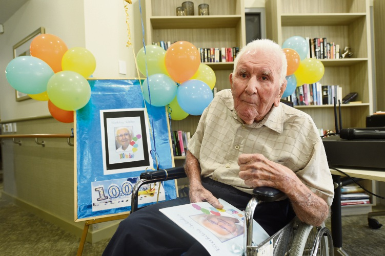 Ronald Brockwell has just celebrated his 100th birthday.