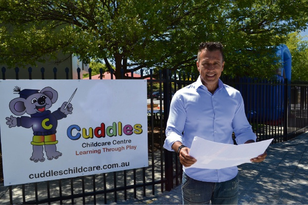 Cuddles Childcare Group manager Cliff Carver.