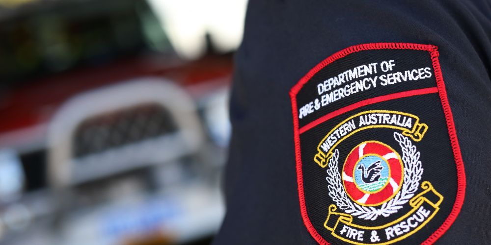 Emergency Services Fire Stock Image.
